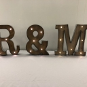 Rustic Light Up Letter Hire