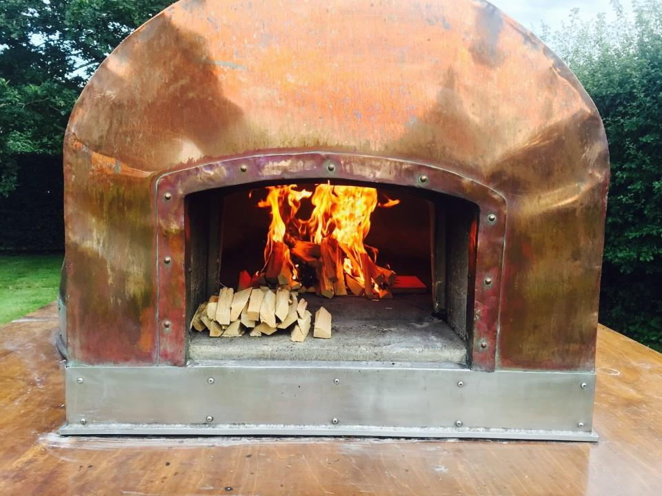Wood Fired Wedding catering, fresh pizza cooked in a roaring Wood Fired oven.A completely unique set up to make your day stand out from the crowd.