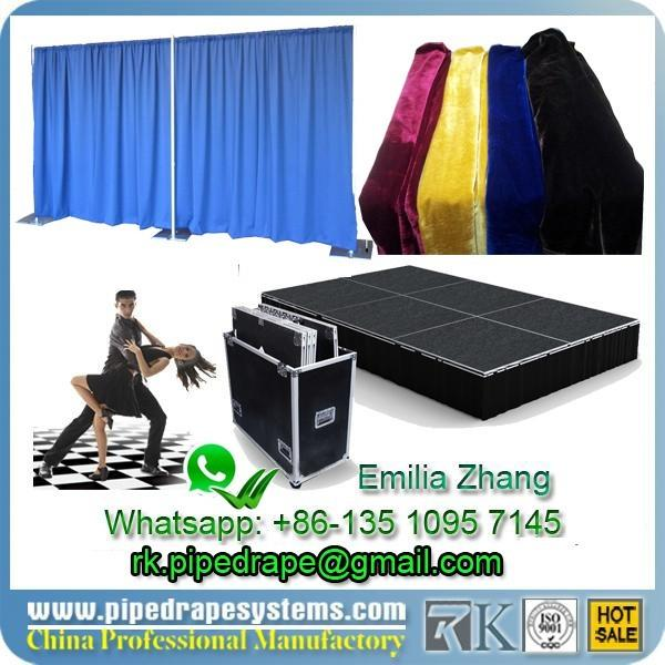 whatsapp to find event decor COMPANY CONTACT FLIGHT CASE DANCE FLOOR PIPE AND DRAPE+86-13510957145