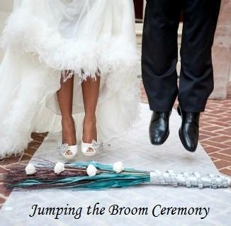 The Broom Jumping Ceremony is based on a tradition symbolising the clearing away of negativity with a sweep of the broom and creating a threshold for the couple to cross over into their new life together.