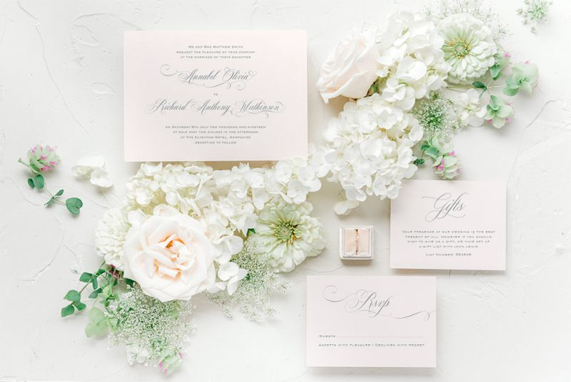 Peony & Rose Wedding Stationery