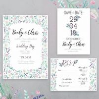 Benny And The Bird Wedding Stationery Design