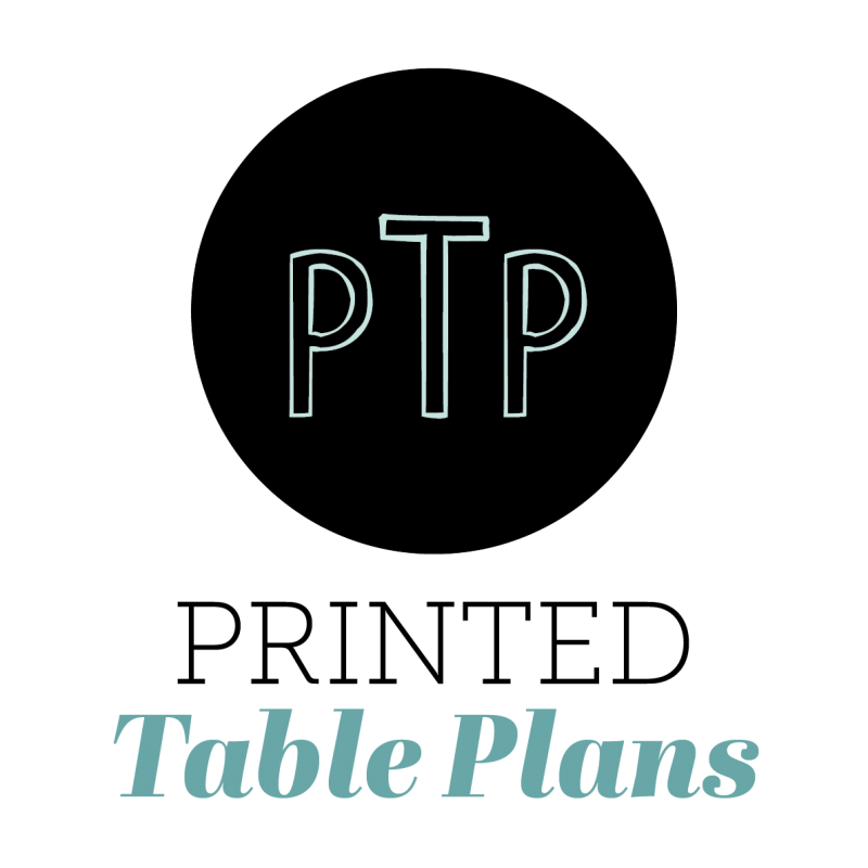 Printed Table Plans