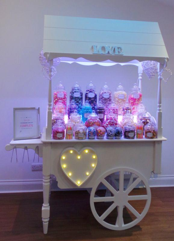 Luxury Candy Cart | Sweet Cart available for hire across Surrey, London and the Home Counties