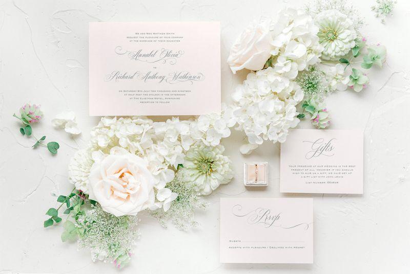 Peony & Rose Wedding Stationery