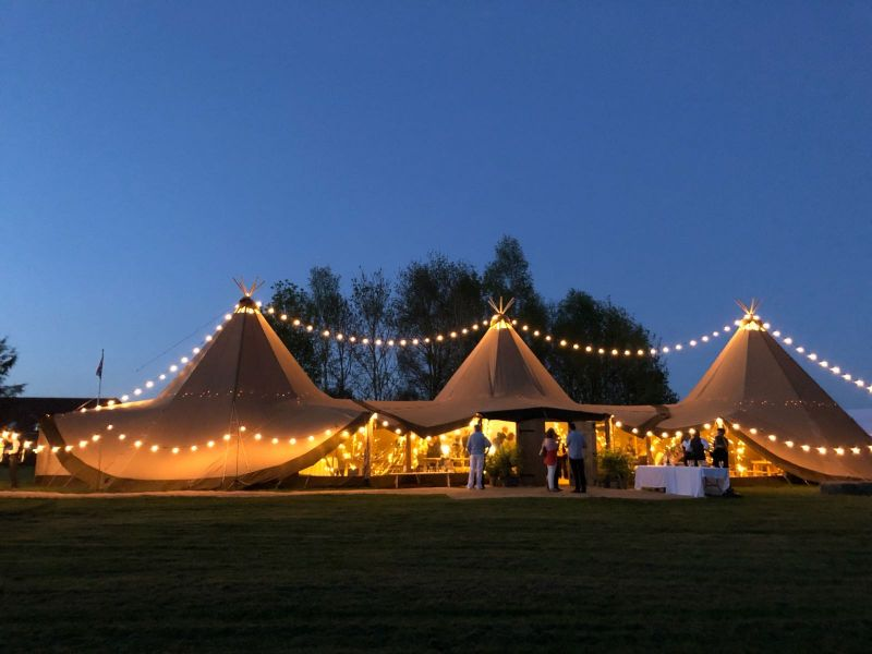 The Woodlands Tipi at Blacknest Golf and Country Club