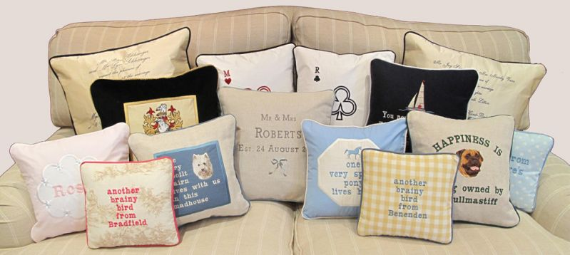 Personalised Cushions, Bespoke Cushions, Tailor Made Cushions, birthday cushions, wedding present cushions, UK